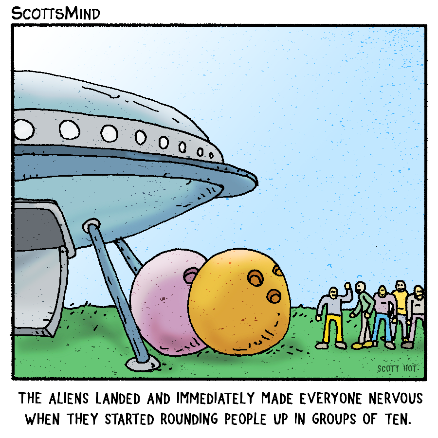Alien Intentions Cartoon