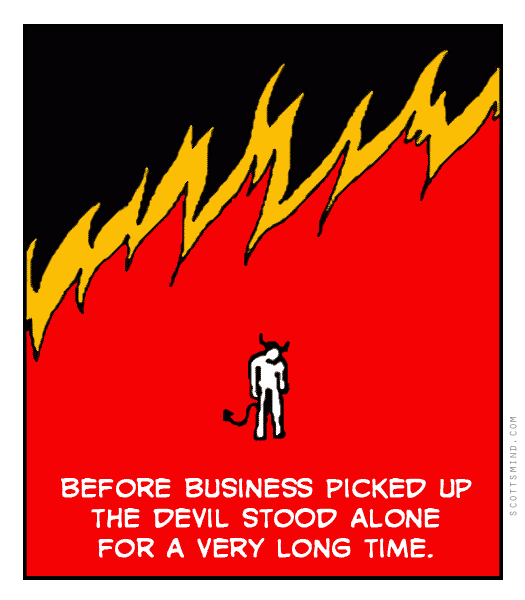 Funny devil cartoon
