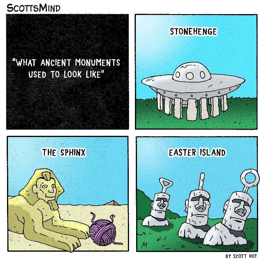 Ancient Monuments Cartoon