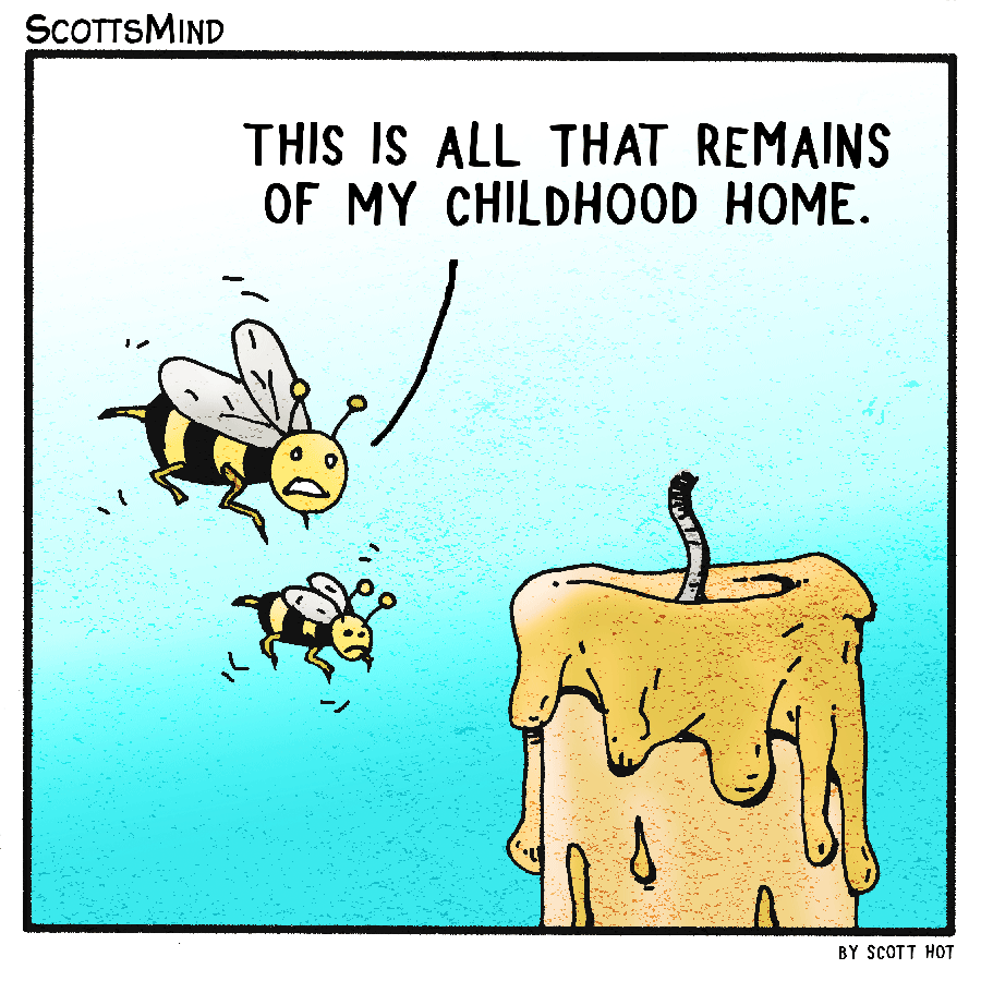 Bee Memories Cartoon