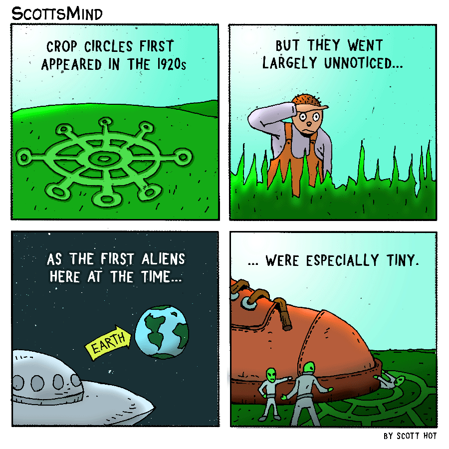 Crop Circles Cartoon