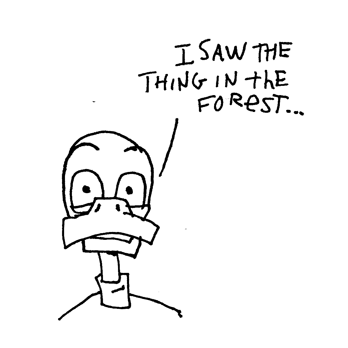 duck forest thing doodle cartoon