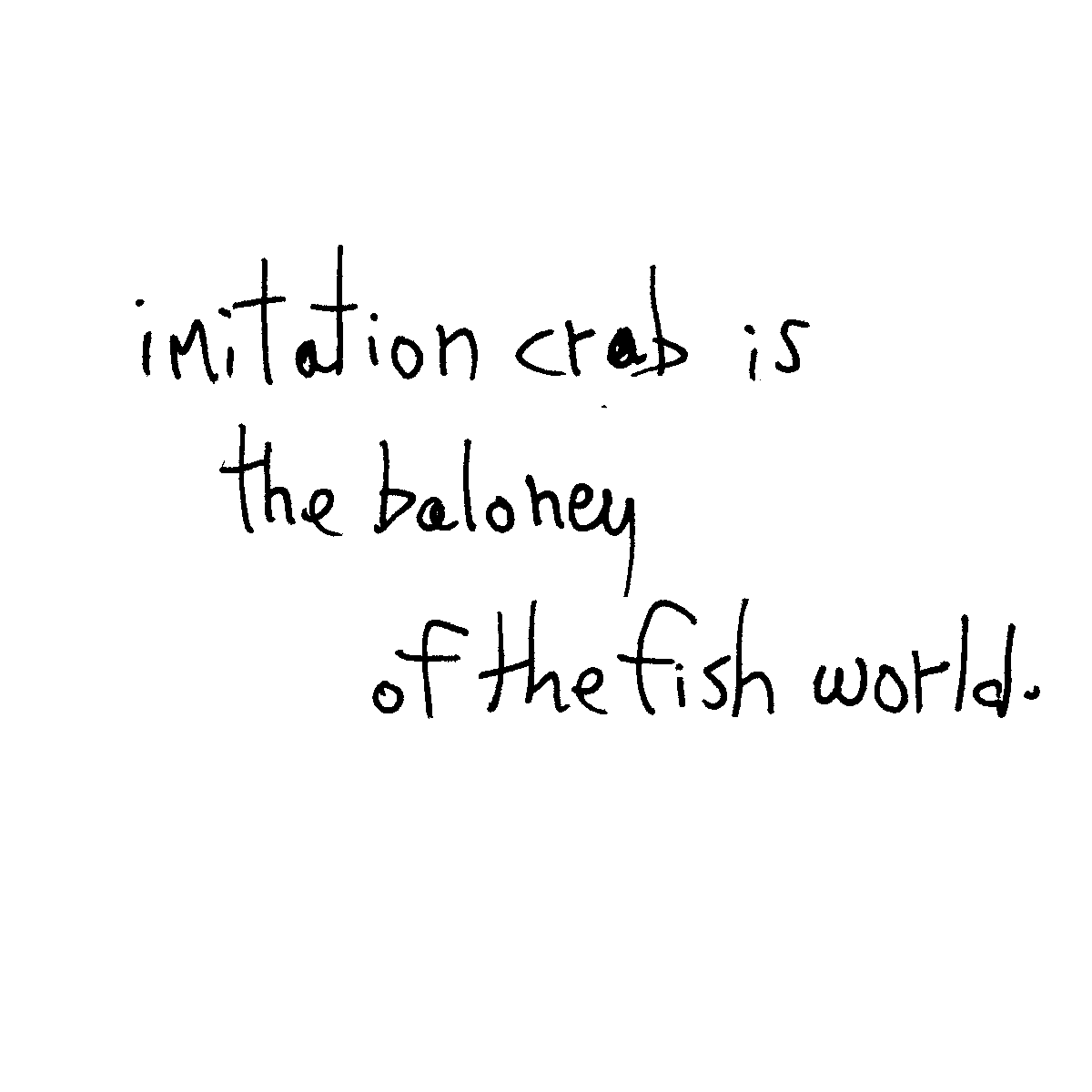 imitation crab cartoon doodle