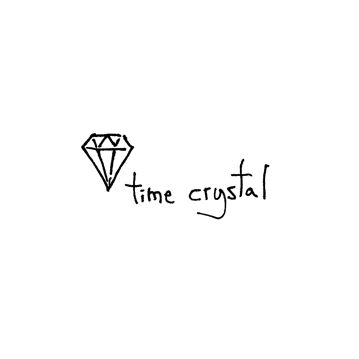 time crystal cartoon doodle