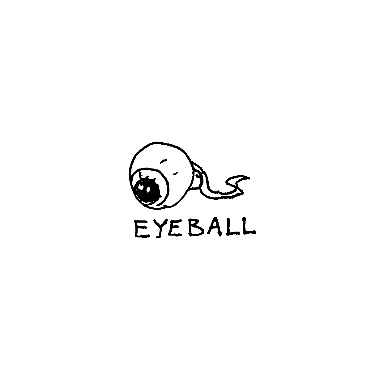detached eyeball cartoon doodle