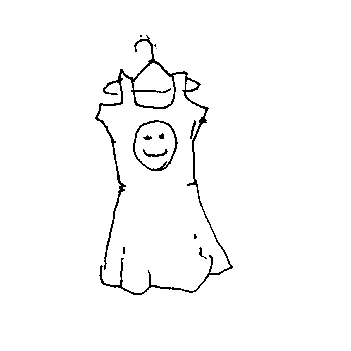 emoticon dress cartoon doodle