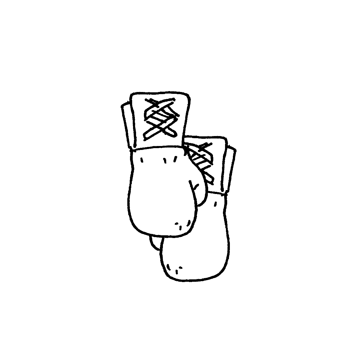 boxing gloves cartoon doodle