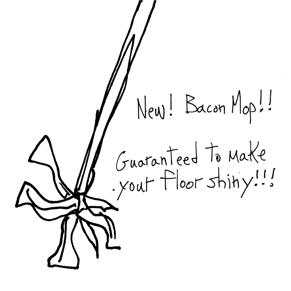 baconmop cartoon doodle