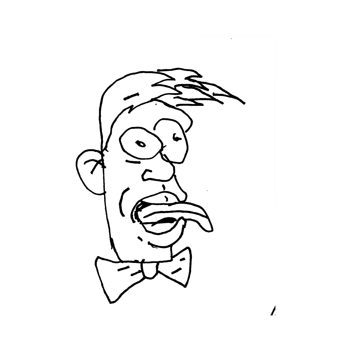 tonguer cartoon doodle