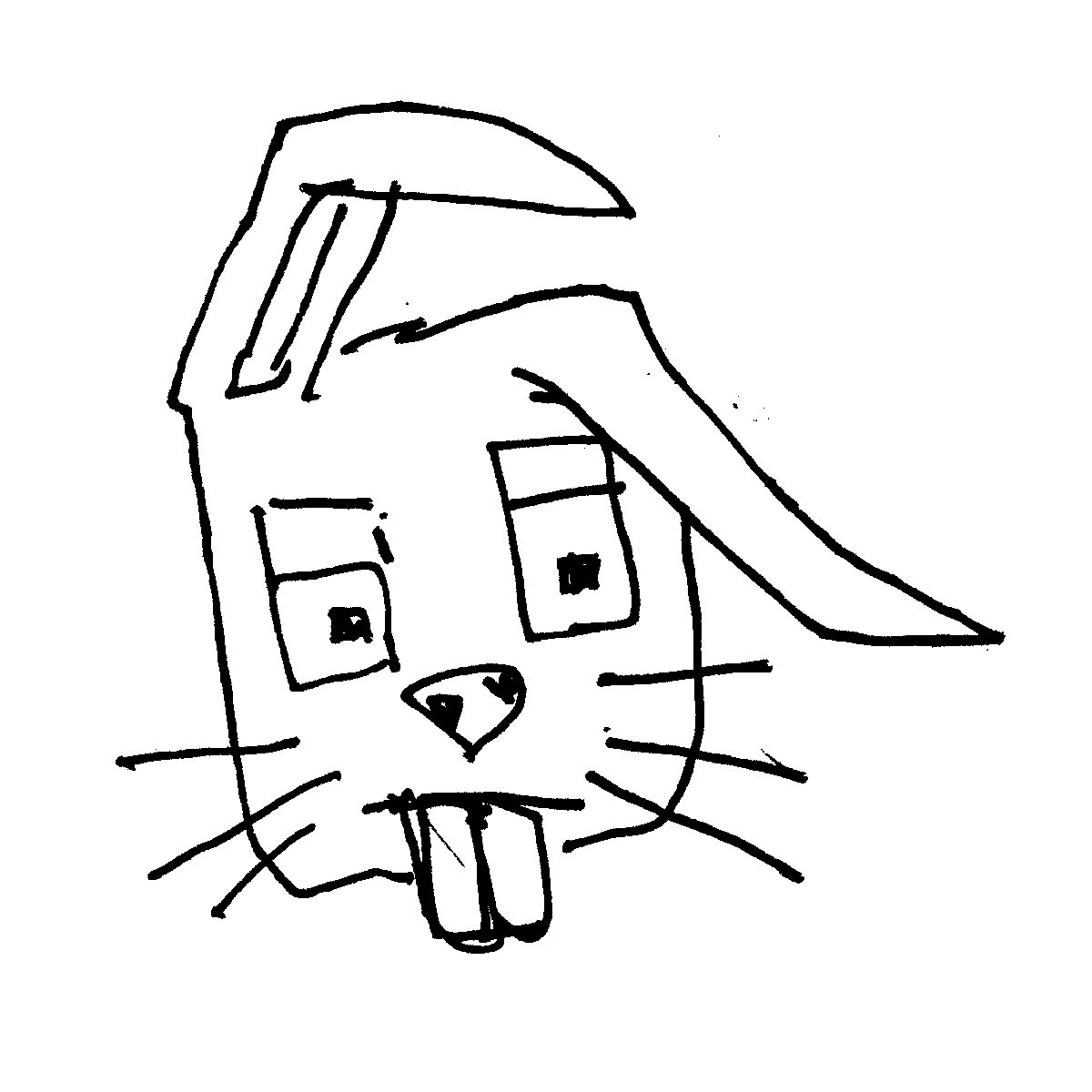 rabbit cartoon doodle