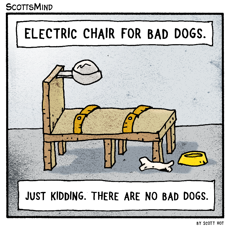 Electric Chair For Dogs Cartoon