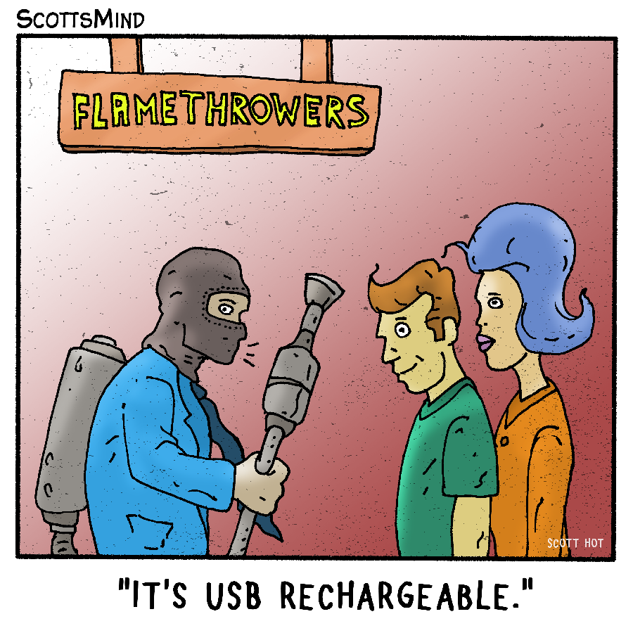 Flamethrowers Cartoon