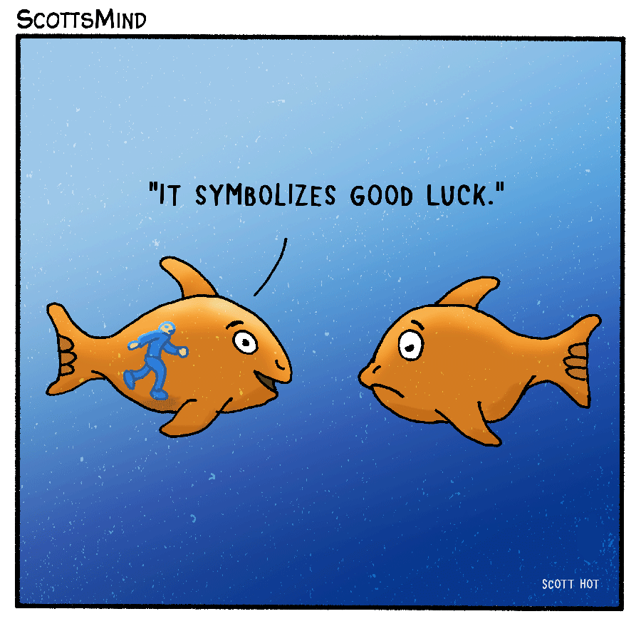 Good Luck Cartoon