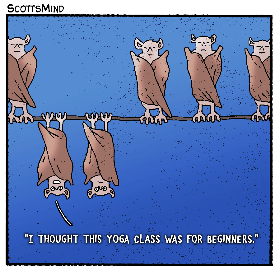 Hanging Bats Cartoon