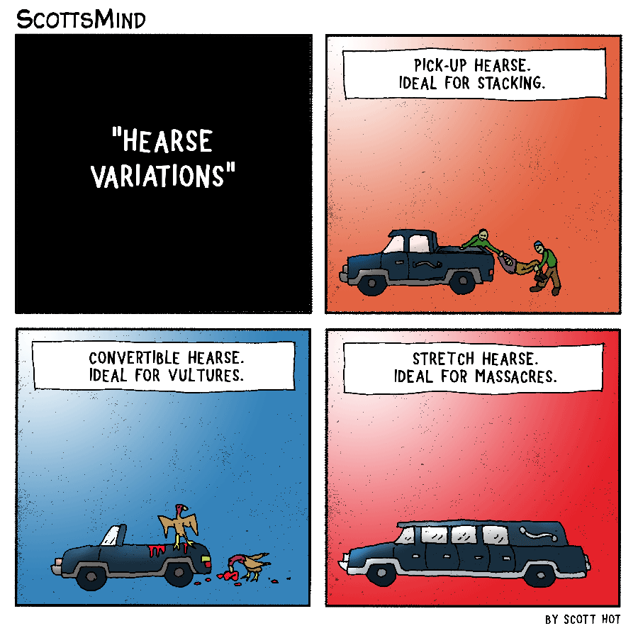 Hearse Variations Cartoon