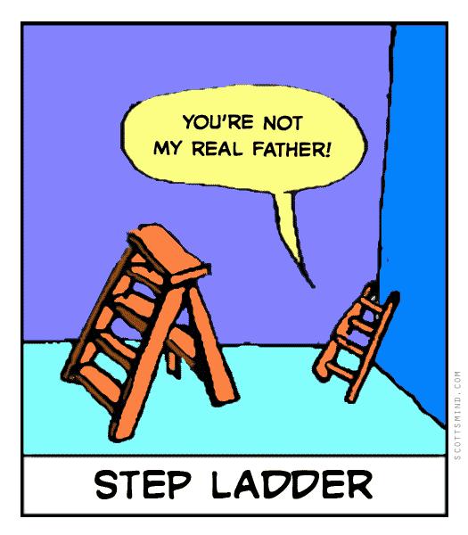 Funny step father cartoon