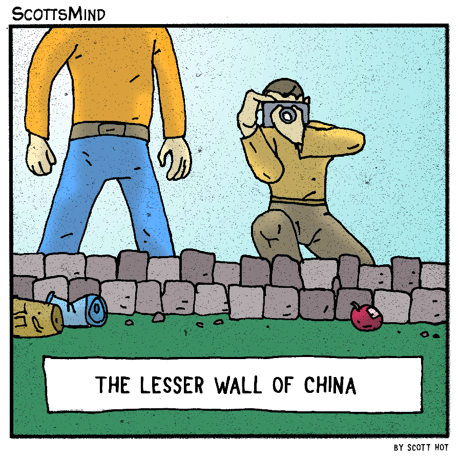 Lesser Wall Of China Cartoon