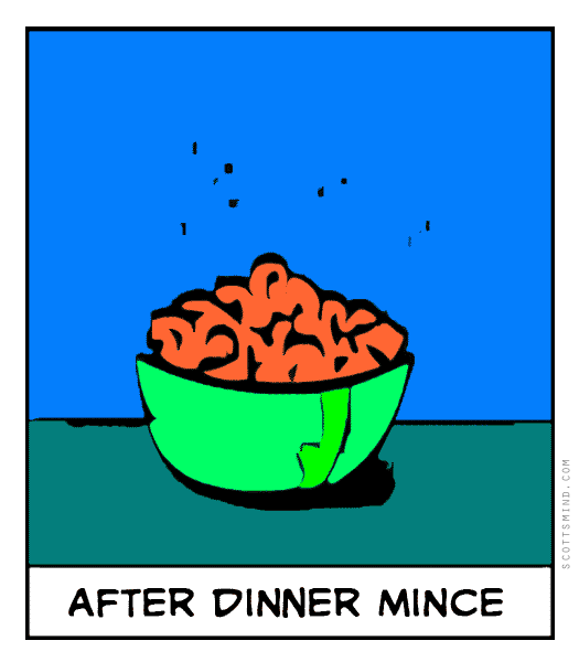 Funny mince cartoon