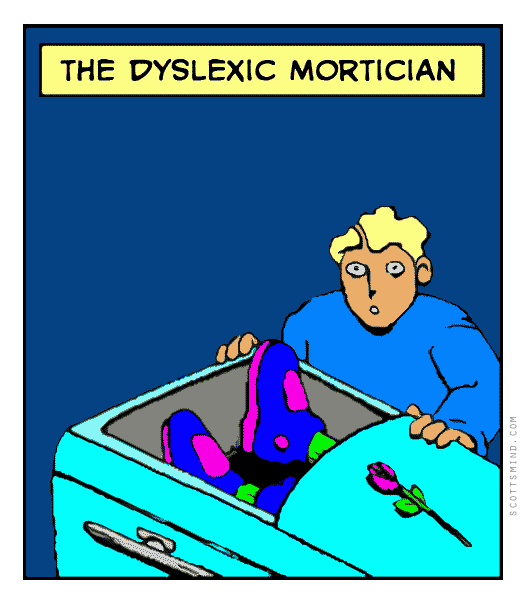 Funny mortician cartoon