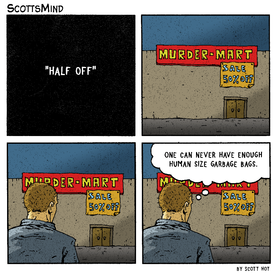 Murder Mart cartoon