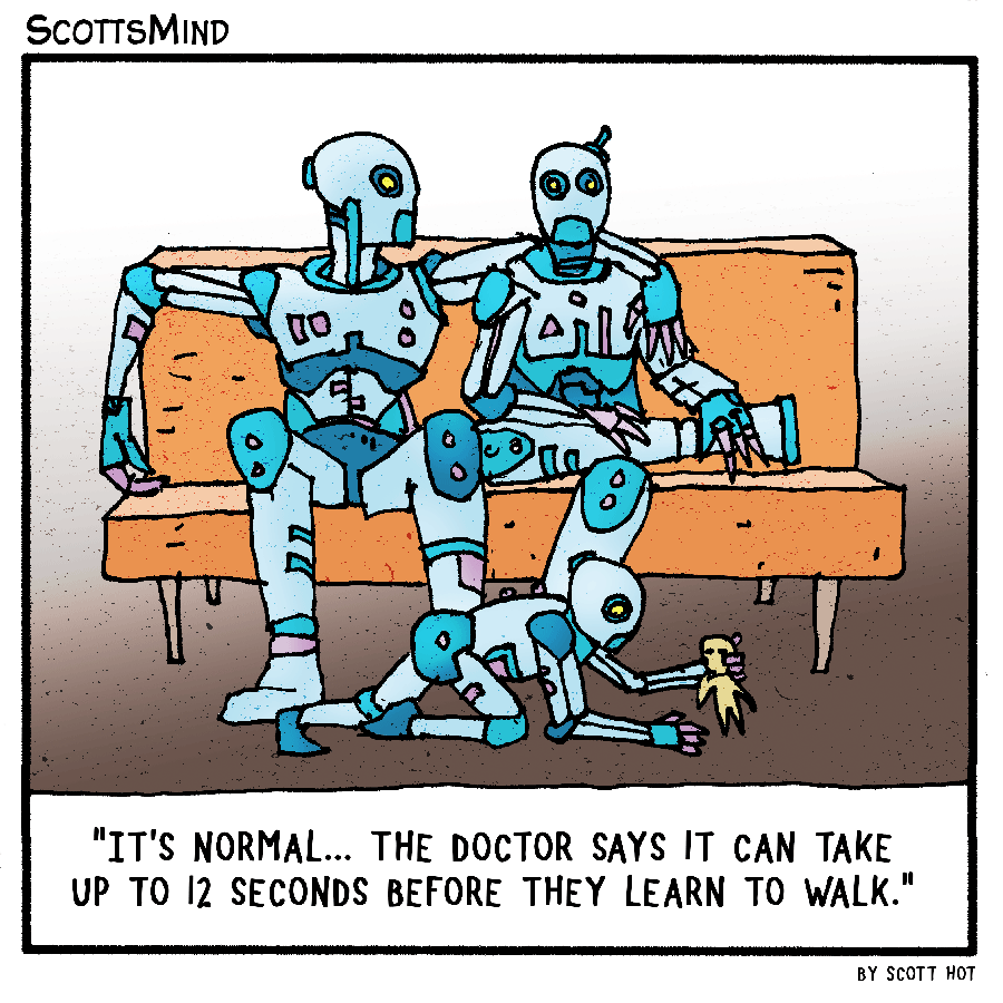 Normal Robots Cartoon