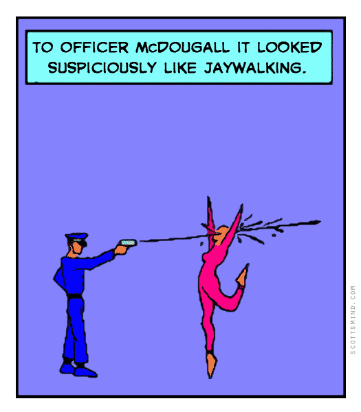 Funny police officer cartoon