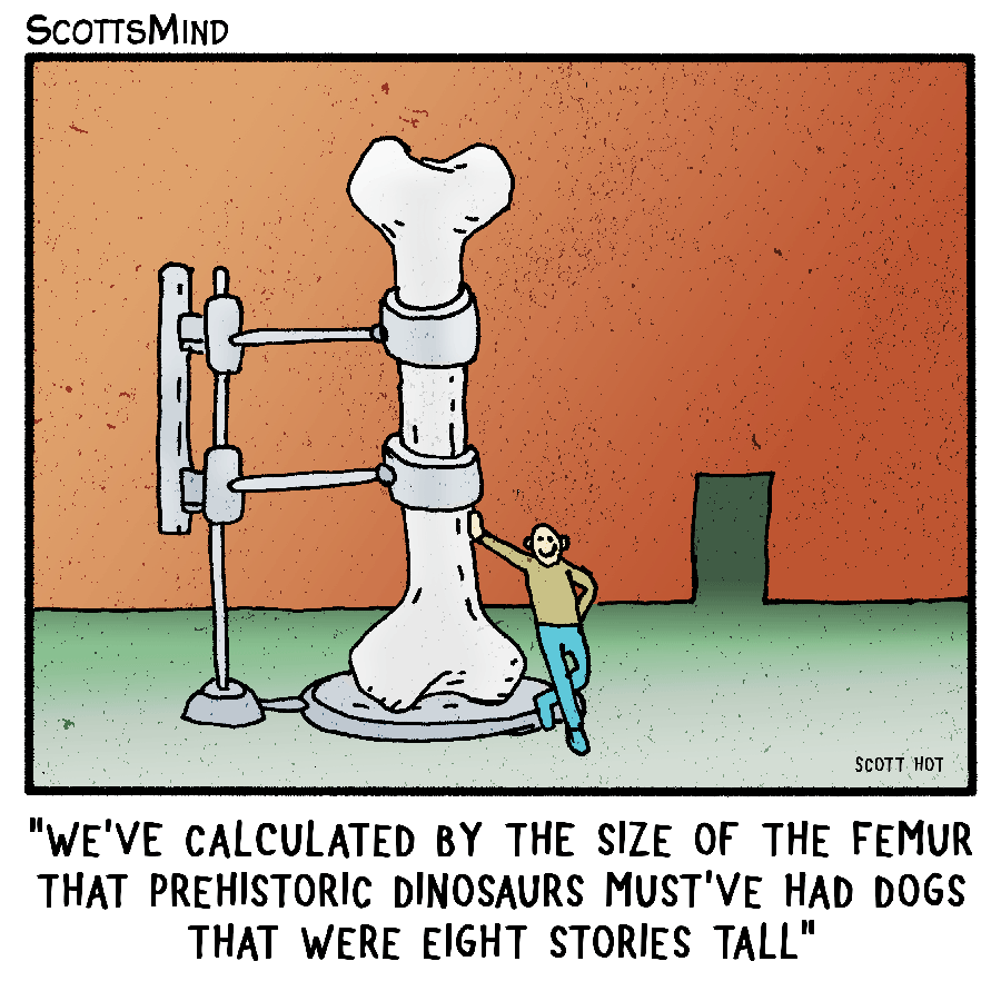 Prehistoric Calculations Cartoon
