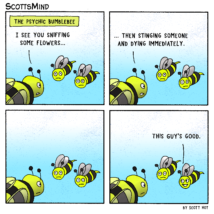 Psychic Bumblebee Cartoon