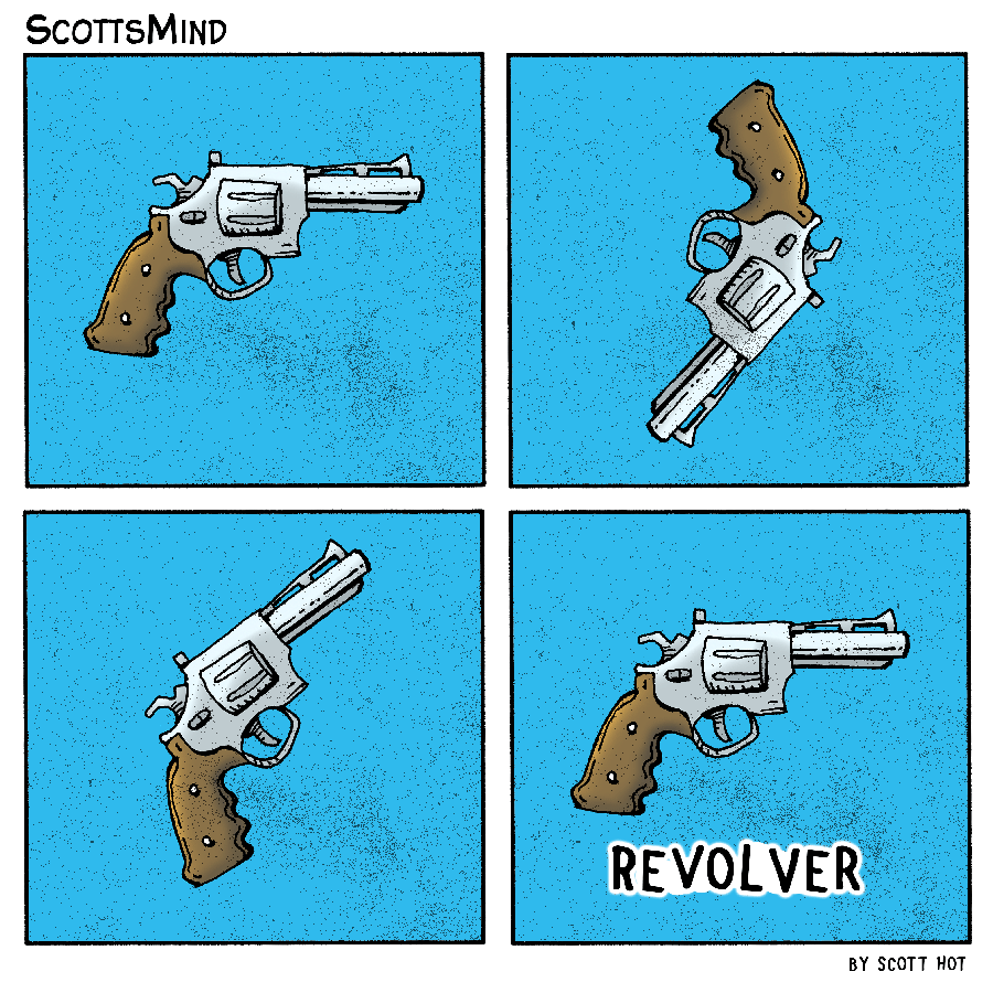 Revolver Cartoon