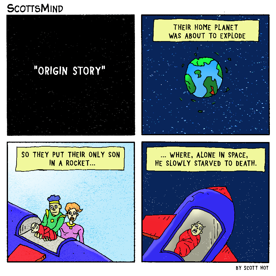 Super Origin Story Cartoon