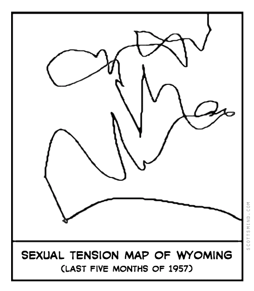 Funny tension map cartoon